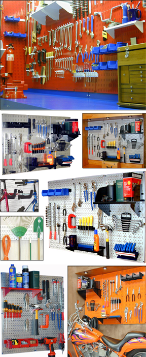 Pegboard Gallery of Garage Tool Storage & Organization
