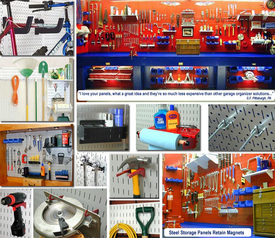Gallery of Garage Pegboard Tool Storage & Organization