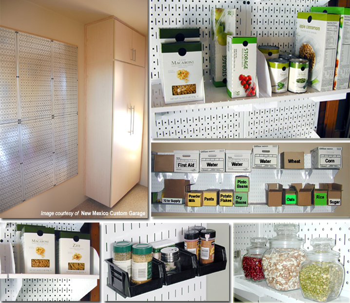 Gallery of Food Storage Ideas with Pegboard