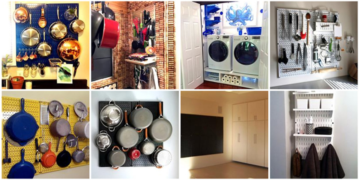 Wall Control Kitchen Pegboard and Home Wall Organizers