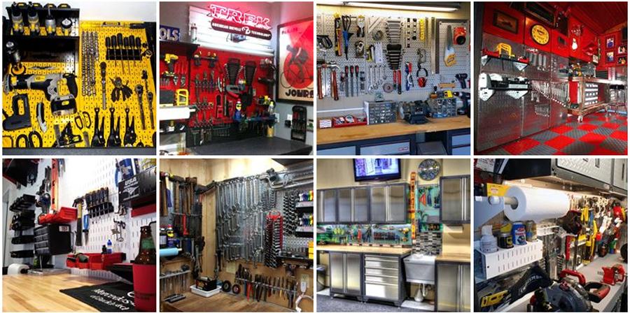 Garage Pegboard Wall Control Metal Pegboard Tool Organizers