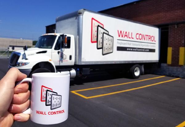 Wall Control Truck at Wall Control Atlanta Distribution Center